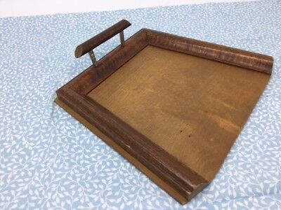 Vintage Wooden Crumb Tray - Dustpan for table