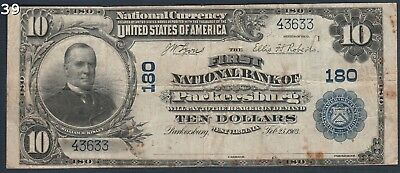 1903 $10 Parkersburg West Virginia National Bank Note CH#180 FR#616