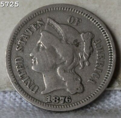 1876 Three-Cent Piece (Nickel) *Free S/H After 1st Item*