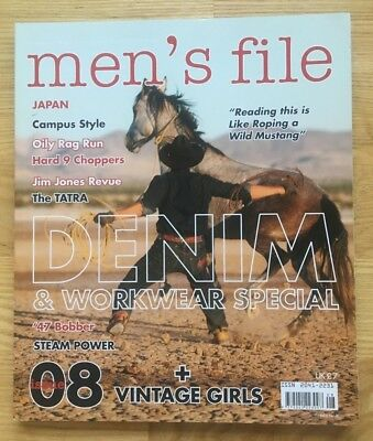 men's file magazine issue 08 Denim & Workwear Special