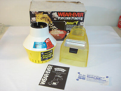 Vintage Wear-Ever POPCORN PUMPER Electric Hot Air Popper 73000 New with Box