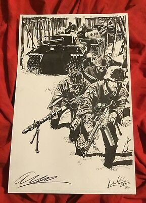 THE BOYS #52 PAGE #22~ORIGINAL ART BY JOHN McCREA & KEITH BURNS~SIGNED BY ENNIS