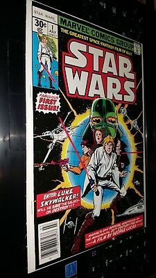 STAR WARS #1 JULY 1977 FIRST PRINT *HIGHLY COLLECTIBLE *VF+ to VF/NM PLUS BONUS!