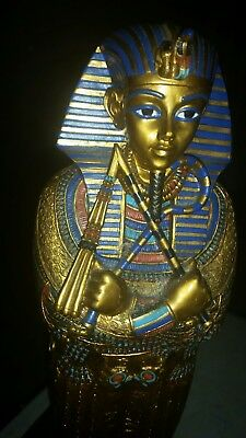 """Egyptian King Tut Coffin - Collectible Figurine Statue Egypt 16"""" tall detailed"""