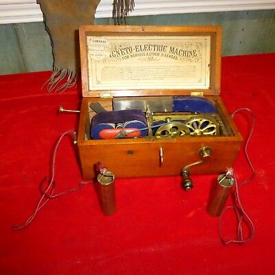 MEDICAL ANTIQUE CA 1860 Magneto Electric Machine FOR  Nervous Diseases / CASED