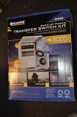Reliance Controls Back-up power Transfer Switch Kit Model 306LRK