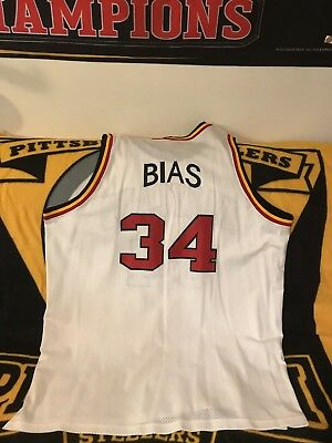 ad0bcfd5c33b Len Bias University Of Maryland Basketball Jersey white 60 2934 Vintage  Sports