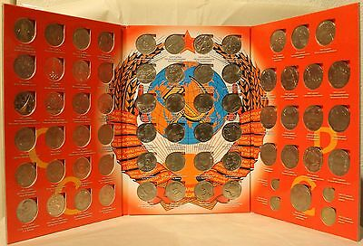 COMPLETE SET! - 68 USSR Commemorative COINS w/ Book Soviet Russia Rubles Roubles