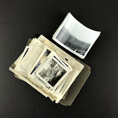 Lot of 100 Vintage Black and White Photos Blurry Faded Distressed Weird