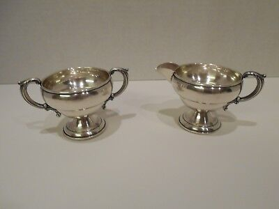 Vintage Wolfenden Sterling Silver Weighted Creamer and Sugar