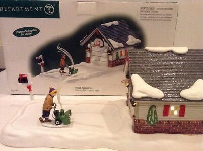 Dept 56 Animated Clearing The Driveway Again Christmas Snow Village Building