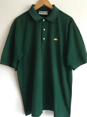 The Masters Augusta National Golf Mens Green Polo Shirt Size L