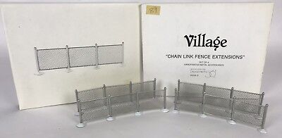 DEPT 56  -  CHAIN LINK FENCE EXTENSIONS  Two Boxes SET OF 8 # 5235-3