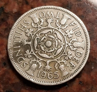 1965 Great Britain Two Shillings Coin - High Grade - #3723