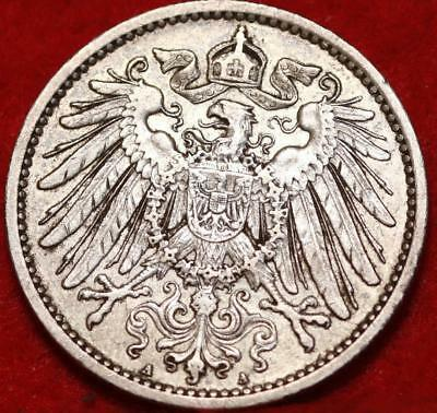 1907-A Germany 1 Mark Silver Foreign Coin