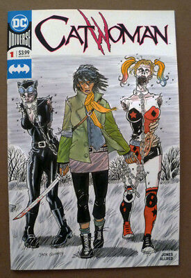 Catwoman#1 Original Sketch Cover Art Walking Dead Michonne Harley Quinn