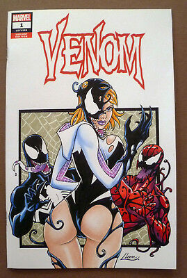 Venom#1 Original Sketch Cover Art Spider-Gwen Carnage