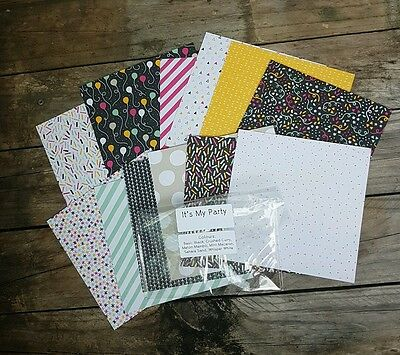 """Stampin' up! 6""""×6"""" paper share It's my party Designer Series Paper 12 Sheets"""