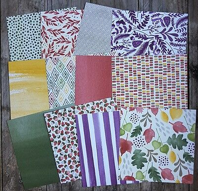 Stampin up 6×6 paper share Colour Me Autumn Designer Paper 12 sheets