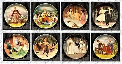 Sound Of Music Plates By Edwin Knowles – Set Of 8