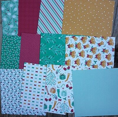 Stampin up 6×6 paper share Presents and Pinecones Designer Paper 12 Sheets