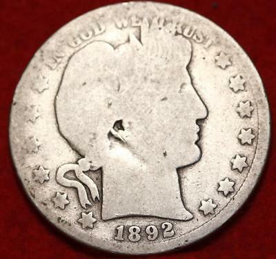 1892-O New Orleans Mint Silver Barber Half Dollar