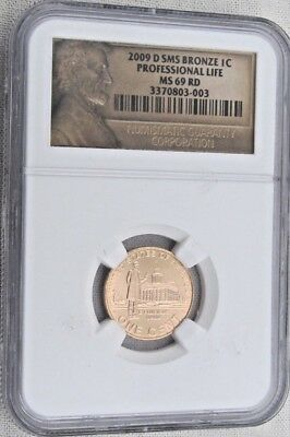 2009 D SMS Lincoln Memorial Cent/Penny - Professional -NGC MS 69 RD Red  (3-003)
