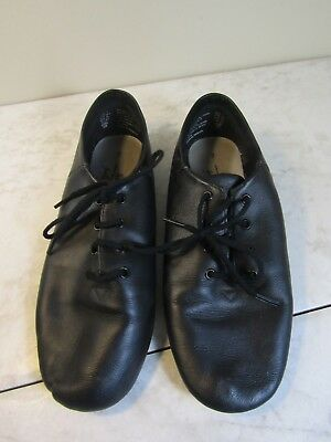 American Ballet Theatre Black Lace Up Soft Leather Jazz Dance Shoes Women Size 7