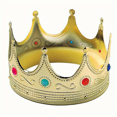 Gold Royal Medieval Mens Prince King Crown Halloween Costume Theatre Movie Prop