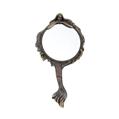 Vintage Antique Style Hand Held Mermaid Vanity Mirror Coastal Home Ocean Decor