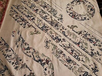 Old Chinese Uncut Bias Bands and Collar for Qing Dynasty Robe 1915