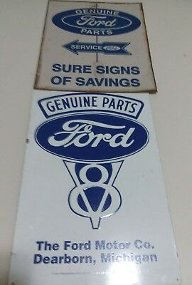 Genuine Ford Parts Rectangle Metal Signs