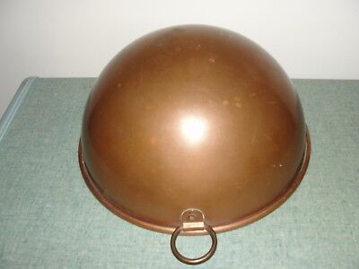 Vintage heavy weight copper kitchen mixing bowl