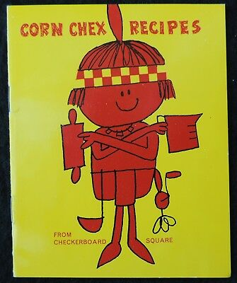 [ 1950s - 1960s Ralston CORN CHEX Cereal Recipe Booklet - Vintage Indian Theme ]
