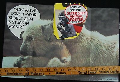 [ 1970s Post HONEY-COMB Cereal Box PART & Prize - Super Silly Animal Posters ]