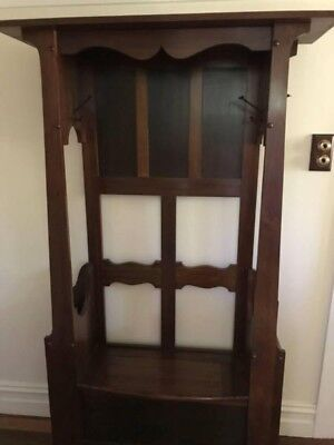 Art deco hallstand with bench seat