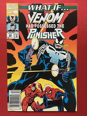 What If...Venom Had Possessed The Punisher #44 Newsstand Variant • NM • Marvel