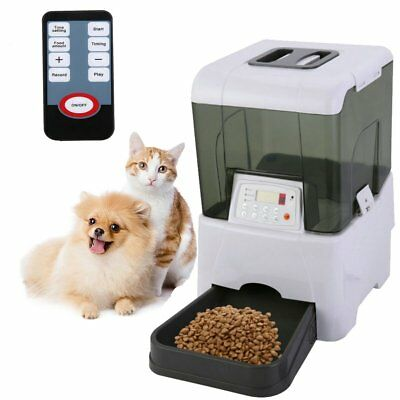 10.6L Automatic Pet Feeder Dog Cat Programmable Food Bowl Dispenser LCD Display