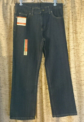 Faded Glory relaxed fit jeans with adjustable waist, Boys size 12H (Husky)