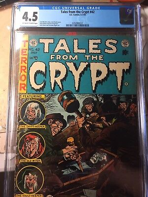 CGC 4.5 Tales from the Crypt #42 1954 Jack Davis cover E.C.