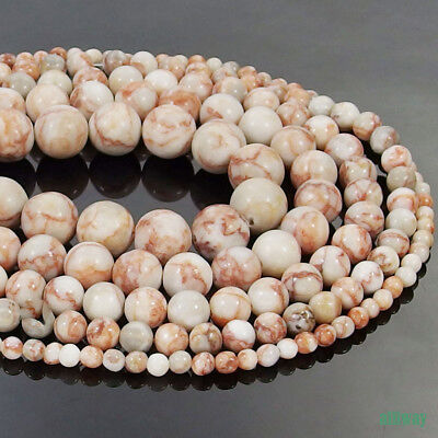 Natural Red Spider Web Jasper Stone Round Beads 15.5'' 4mm 6mm 8mm 10mm 12mm DIY