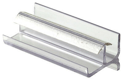 PRIME LINE PRODUCTS Shower Door Bottom Guide, Clear Vinyl, 3-In. 193086