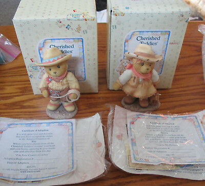 COLLECTIBLE CHERISHED TEDDIES FIGURINES ROY AND SIERRA 2pc. #28