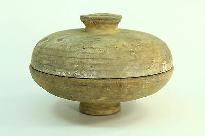 ! 206 BC–220 AD HAN DYNASTY China Earthenware Covered Dish Food Vessel Bowl