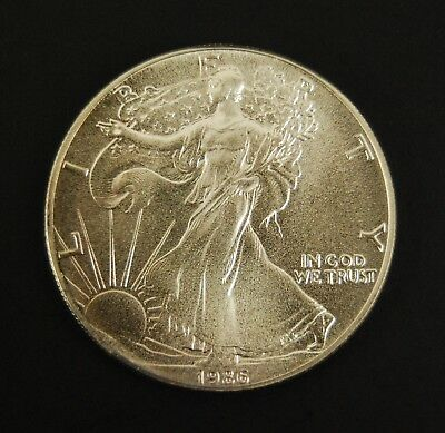 1986 $1 American Eagle Silver Dollar BU - 1 Troy Oz (#1)