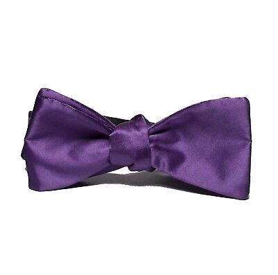NICOLE MILLER NEW YORK Men Dress Silk Bow Tie Purple Color