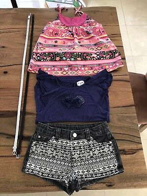 Girls Top / Shorts Clothes Bundle Origami, Tilli, Fred Bare - size 8