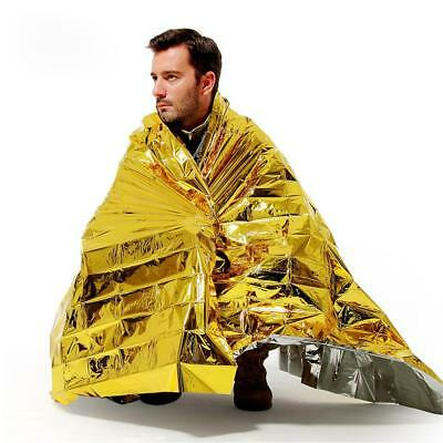 Emergency Blanket Rescue Thermal Space Survival Sleeping Bag Shelter @^