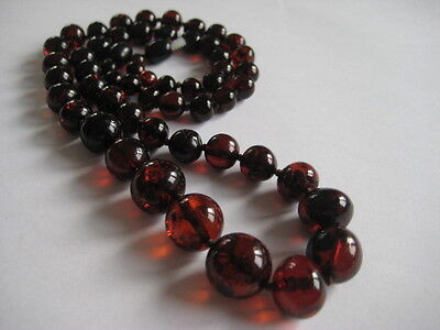 Bernsteinkette Baltic Amber Necklace Cherry-Cognac Beads