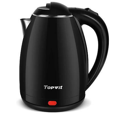 Topwit Electric Kettle Stainless Steel Interior Cordless, Electric Tea Kettle
